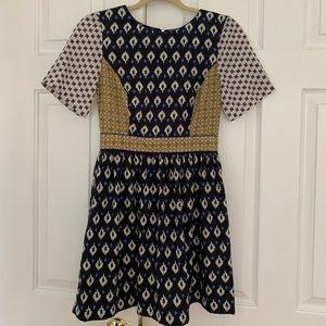 Topshop Tile Print Tea Dress